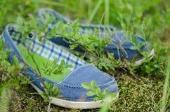 Mocassins dans l'herbe image libre de droits
