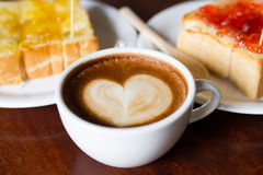 Mocca coffee in cafe Shop Royalty Free Stock Photo