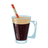 Mocca coffee cup cream straw drink. Vector illustration eps 10 Stock Photo