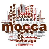 Mocca word cloud. Creative illustration of idea word lettering typography . 3D rendering Royalty Free Stock Photography