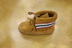 Moccasin baby Royalty Free Stock Photo