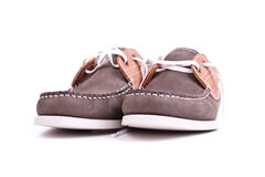 Moccasins on white background Royalty Free Stock Images