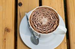 Mocha φλιτζανιών του καφέ κινηματογραφήσεων σε πρώτο πλάνο Στοκ φωτογραφία με δικαίωμα ελεύθερης χρήσης
