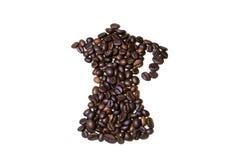 Mocha beans. A mocha made with coffee beans Stock Photos