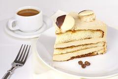 Mocha cake Stock Photo