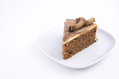 Mocha cake slice Royalty Free Stock Image