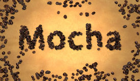 Mocha Coffee Bean on Old Paper Royalty Free Stock Image