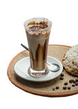 Mocha. Coffee with chocolate and powder Royalty Free Stock Image