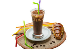 Mocha. Coffee with chocolate and powder Royalty Free Stock Photography