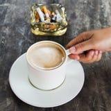 Mocha coffee hot Stock Photo