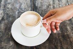 Mocha coffee hot Stock Image