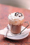 Mocha Coffee. With Whipped Cream and Chocolate Topping Stock Images