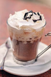 Mocha Coffee. With Whipped Cream and Chocolate Topping Royalty Free Stock Images