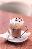 Mocha Coffee. With Whipped Cream and Chocolate Topping Stock Photo