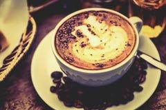 Mocha do café quente fotografia de stock