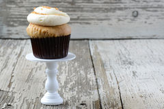 Mocha Flavored Cupcake Stock Photos