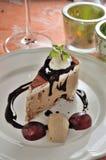Mocha ice cream cake Royalty Free Stock Images