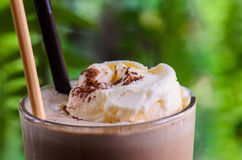 Mocha ice cream. In Coffee cafe and restaurant Stock Image