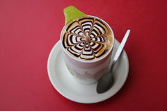 Mocha latte. With web pattern Stock Photo