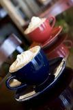 Mocha lattes Stock Images