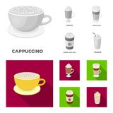 Mocha, macchiato, frappe, take coffee.Different types of coffee set collection icons in monochrome,flat style vector. Symbol stock illustration Royalty Free Stock Photo