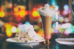 Mocha van de koffie Zoete drankmochaccino stock fotografie
