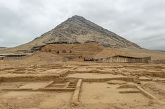 Moche Moon Pyramid, Trujillo, Peru royalty free stock image