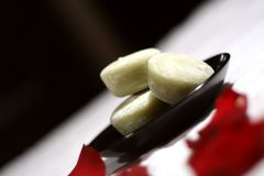 mochi πάγου επιδορπίων κρέμας Στοκ Φωτογραφίες