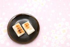 Mochi (bolos de arroz japoneses) imagem de stock