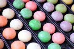 Mochi colorful Japanese dessert Stock Image