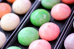 Mochi colorful Japanese dessert Stock Image