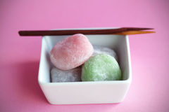 Mochi colorful japanese rice cakes, dessert Stock Image