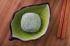Mochi del tè verde Fotografie Stock Libere da Diritti