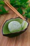Mochi för grönt te Arkivbild