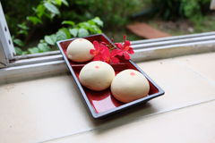 Mochi. Japanese-style sweet desserts delicious Royalty Free Stock Photo