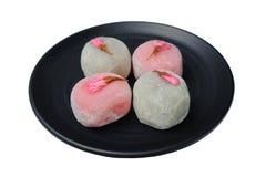 Mochi rosado blanco de sakura Fotografía de archivo libre de regalías
