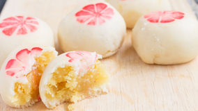 Mochi with salted eggs Stock Photography