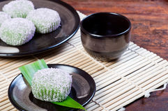 Mochi or sticky rice balls Stock Images
