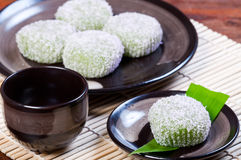 Mochi or sticky rice balls Stock Image
