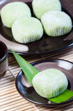 Mochi or sticky rice balls Stock Photos