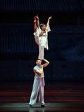 Mochila - la acrobacia de los deportes Foto de archivo libre de regalías