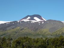 Mocho vulkan i söderna av Chile royaltyfria foton
