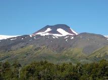 Mocho-Vulkan im Süden von Chile lizenzfreie stockfotos