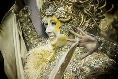 Mocidade Alegre - bailarín São Pablo, el Brasil 2015 de Carnaval Imágenes de archivo libres de regalías