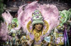 Mocidade Alegre - bailarín São Pablo, el Brasil 2015 de Carnaval Imagen de archivo