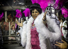 Mocidade Alegre - Carnaval Dancer- São Paulo, Brasil 2015 Royalty Free Stock Photography