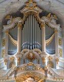 Mock-baroque pipe organ Stock Image