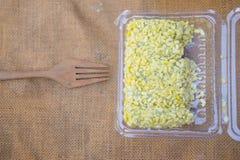 Mock bean pods, Thai sweetmeat foods. Mock bean pods, Thai sweetmeat foods in box Royalty Free Stock Images