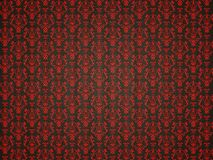 Mock croc background with red victorian ornament. Useful as luxury pettern Royalty Free Stock Image