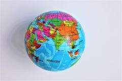 Mock earth globe, worldwide stock photo